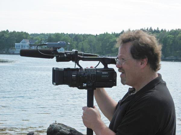 dave waldman behind video camera