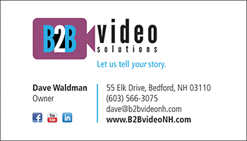 B2B Video Solutions business card